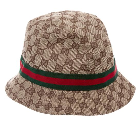 gucci beige gg web trimmed gg canvas bucket hat l. Black Bedroom Furniture Sets. Home Design Ideas