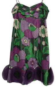 Nanette Lepore Flower Shimmer Floral Dress