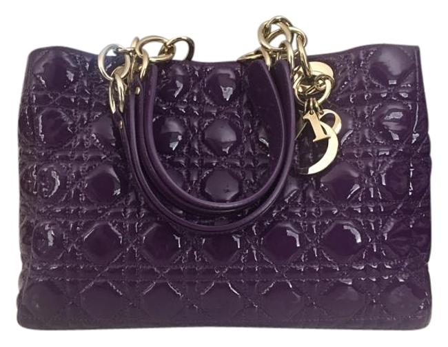 Item - Shoulder Bag Christian Lady Soft Silver Purple Patent Leather Tote