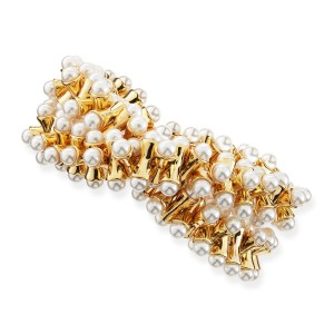 Kenneth Jay Lane Stretchy Pearl Tip Bracelet