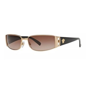 Versace Versace 2021 Sunglasses Black Gold (100213) Authentic New