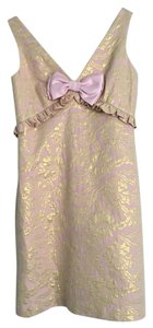 Betsey Johnson Bow Metallic Dress