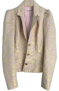 Betsey Johnson Metallic Gold Pink Blazer