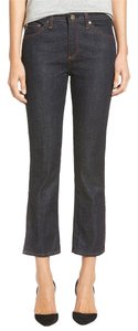 AG Adriano Goldschmied Jodi Side Split Crop Capri/Cropped Denim-Dark Rinse