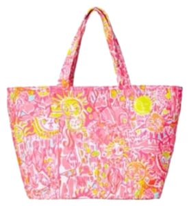 Lilly Pulitzer Tote in Pink, Yellow, White