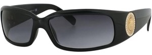 Versace Versace 4044B Sunglasses 4044-B Black Gold (8708G) Authentic New
