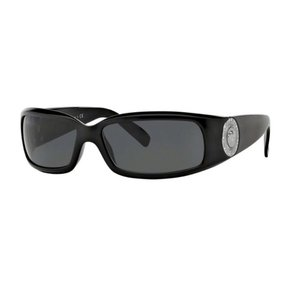 Versace Versace 4044B Sunglasses 4044-B Black Silver (GB187) Authentic New