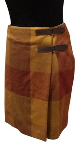 Jones New York Skirt Gold, burgandy