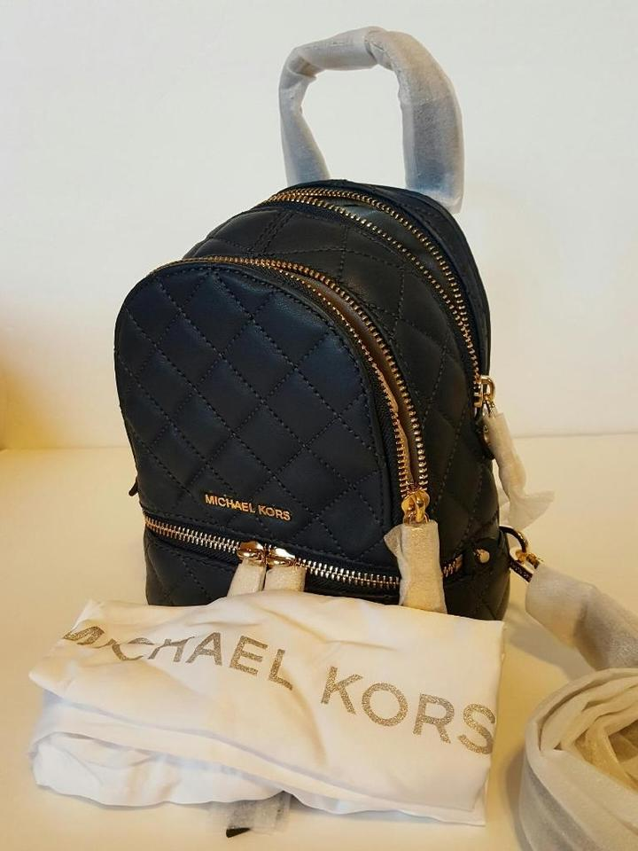 ad8b685a0074 Michael Kors Rhea Quilted Leather Backpack Image 11. 123456789101112