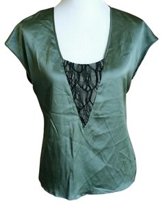 Black Halo Silk Lace Top Green