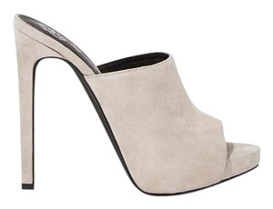 Jeffrey Campbell Nasty Gal grey Mules