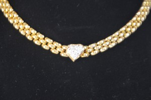 1ct. Total Genuine Round Diamonds Heart Shape Necklace 14k Gold