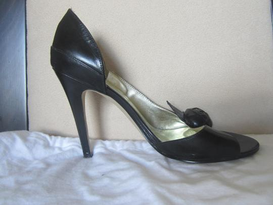 Guess Black Leather Sandals Image 1