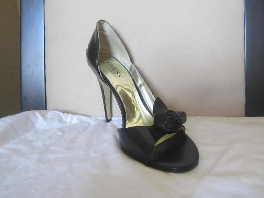 Guess Black Leather Sandals Image 2