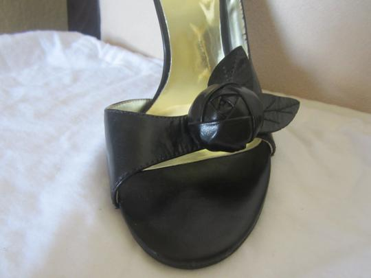 Guess Black Leather Sandals Image 3