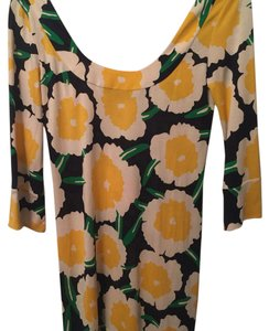 Diane von Furstenberg short dress Yellow/ white/ navy & green on Tradesy
