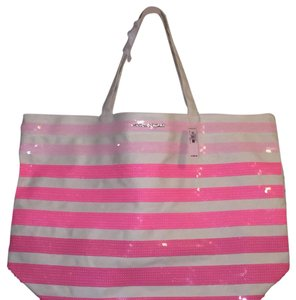 Victoria's Secret Tote in Pink And White