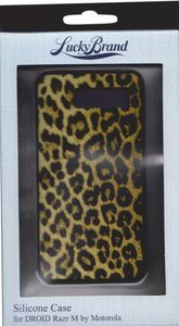 Lucky Brand Lucky Brand Animal Print Silicone Case Cover RAZR M by Motorola