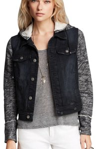 Free People Black/grey Womens Jean Jacket