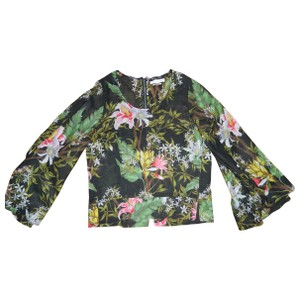 Isabel Marant Top Green Black Floral