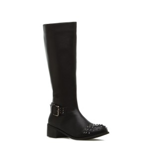 Melki Leather Faux Leather black Boots
