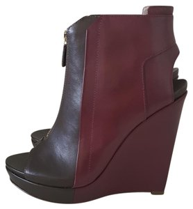 10 Crosby Derek Lam Bootie Two-tone Burgundy & Green Boots