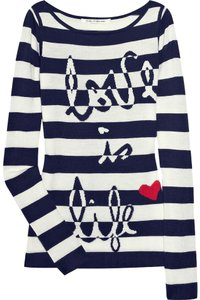 Diane von Furstenberg Striped Knitted Parisian Love Life Sweater
