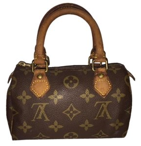 Louis Vuitton Speedy Leather Mini Brown Clutch