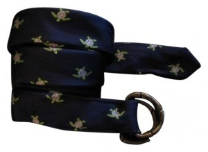 J.Crew J. Crew Silk Belt Cool Turtle Design