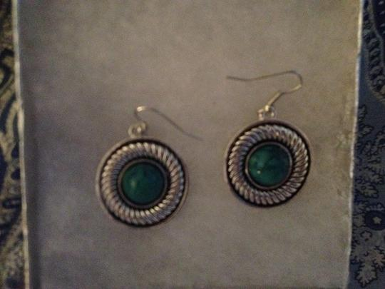 Penny's New Silver Filled Turquoise Dangle Earrings. Look Great on! 1.4 inch Dangle.