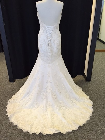 Essense of Australia Ivory Lace D1273 Vintage Wedding Dress Size 10 (M)