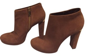 Michael Kors Platform Suede Chunky Brown Boots
