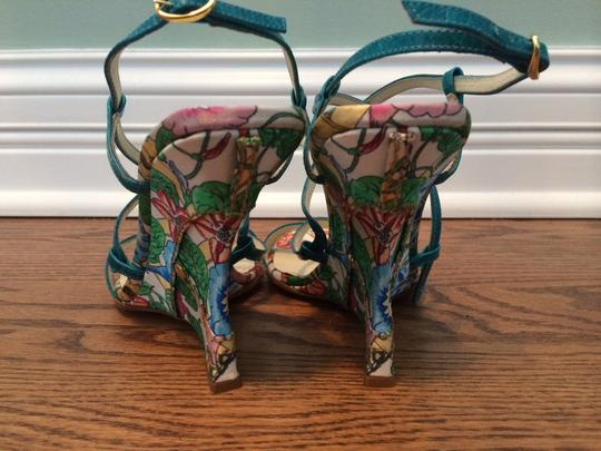 Casadei Floral Strappy Sandals