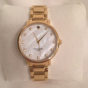 Kate Spade NEW! Mother of Pearl Face W/Crystal Stones & Gold-plated