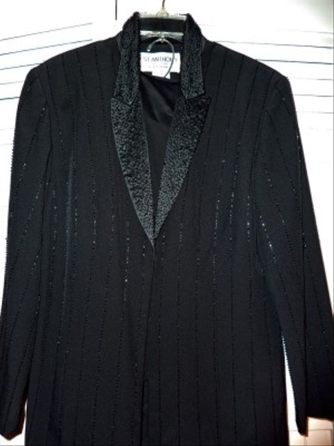 St. Anthony Evening St. Anthony Black beaded 3 piece suit