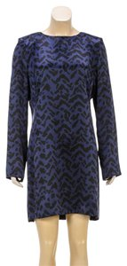 Chloé short dress Navy Blue/Black on Tradesy