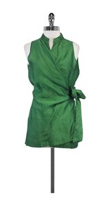 Max Mara Green Silk Sleeveless Top