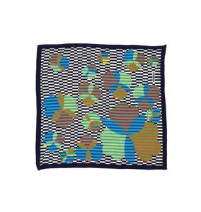 Missoni Multi-Color Checkered Print Silk Scarf