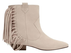 Zara Leather Ankle Boho beige/Ecru Boots