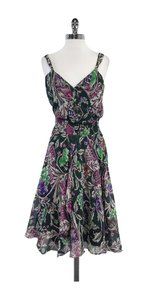 Diane von Furstenberg Multi Color Floral Silk Dress