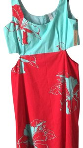 Nanette Lepore short dress Icy Blue / Red on Tradesy