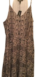 Express short dress Grey snakeskin on Tradesy