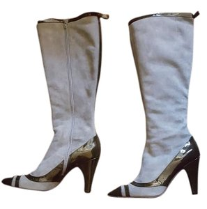 Marc by Marc Jacobs Grey with a dark olive patent Boots