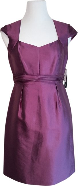 Adrianna Papell Silk Empire Waist Sleeveless Dress