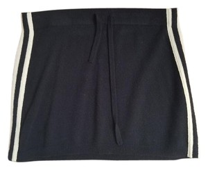 Juicy Couture Mini Skirt black with white stripes