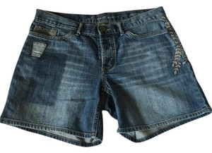 Eddie Bauer Cuffed Shorts Dark Blue