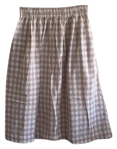 Steven Alan Skirt Beige/White Checkered