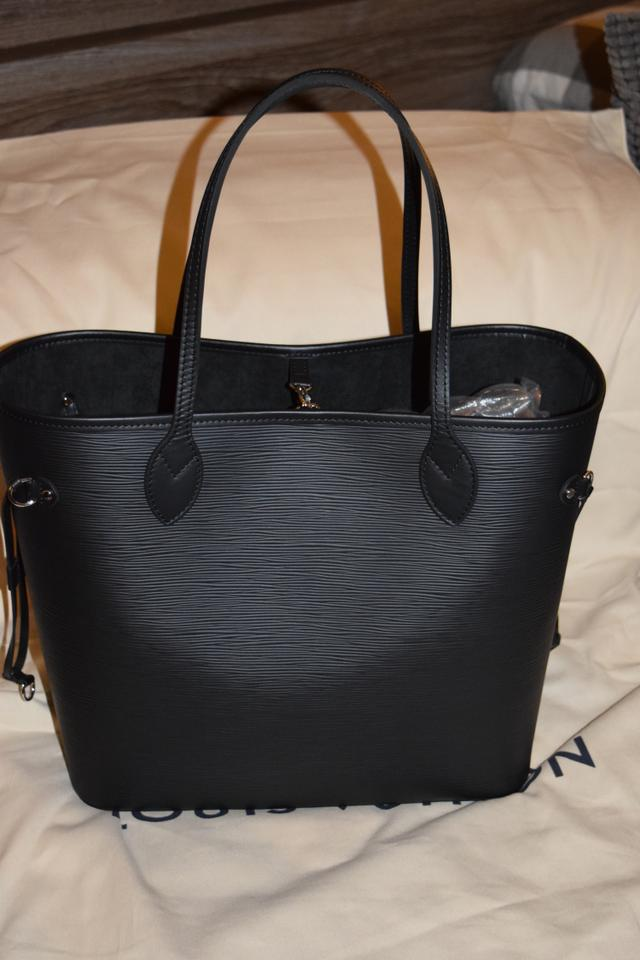 8af0260b4 Louis Vuitton Neverfull New Mm with Pouch Noir Epi Leather Tote ...