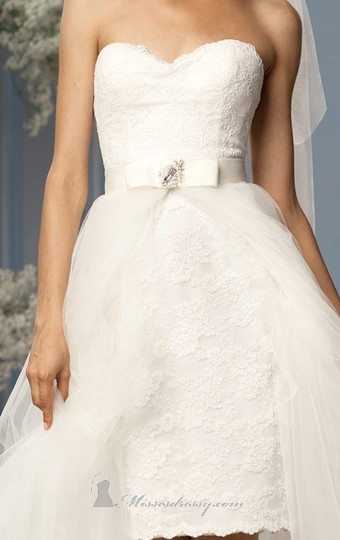 Wtoo Ivory Tulle Riley Item #10393 Modern Wedding Dress Size 10 (M)
