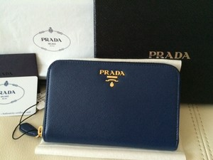 Prada Brand New Authentic PRADA Saffiano Compact Zip Around Wallet 1M1157